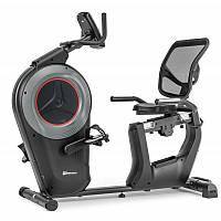 Велотренажер электронный горизонтальный Hop-Sport HS-100L Edge черный iConsole+ мат для дома и спортзала