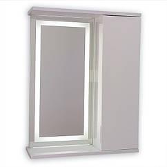 Зеркальный шкаф с LED подсветкой ШК603 (600х700х150) дверь справа