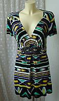 Платье женское летнее вискоза стрейч мини бренд Star р.48, фото 1