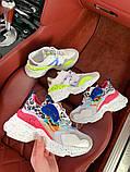 Женские модные разноцветные кроссовки на массивной подошве, фото 2