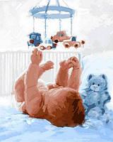 Картина раскраска по номерам на холсте 40*50см Babylon VP838 Малыш
