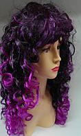 Карнавальный парик Черно - фиолетовый