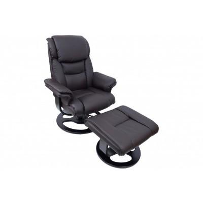 Кресло Bonro 5099 Brown массажное с пуфом