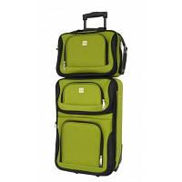 Комплект валіза + сумка Bonro Best невеликий, зелений