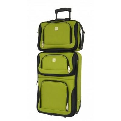 Комплект чемодан + сумка Bonro Best средний, зеленый