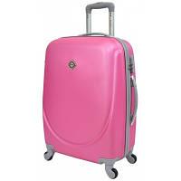 Чемодан Bonro Smile пластиковый на колесах средний, розовый