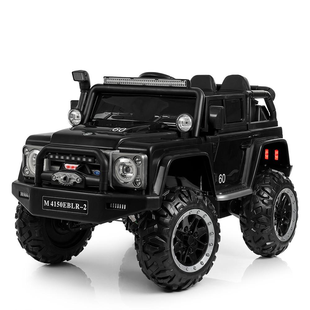 Детский электромобиль Джип Bambi M 4150EBLRS-2 Jeep черный автопокраска