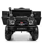 Детский электромобиль Джип Bambi M 4150EBLRS-2 Jeep черный автопокраска, фото 2