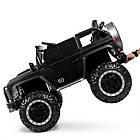 Детский электромобиль Джип Bambi M 4150EBLRS-2 Jeep черный автопокраска, фото 3