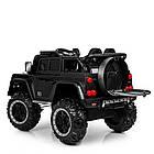 Детский электромобиль Джип Bambi M 4150EBLRS-2 Jeep черный автопокраска, фото 5