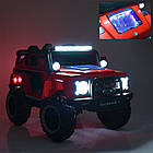 Детский электромобиль Джип Bambi M 4150EBLRS-2 Jeep черный автопокраска, фото 6