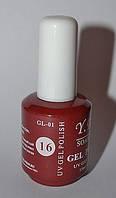 Гель - лак Yre, № 16, цвета в ассортименте 15 мл