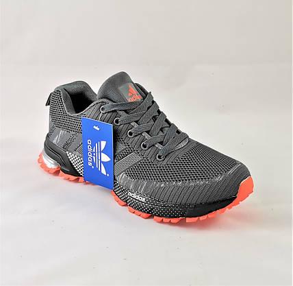 Кроссовки Adidas Fast Marathon Серые Мужские Адидас (размеры: 45) Видео Обзор, фото 2
