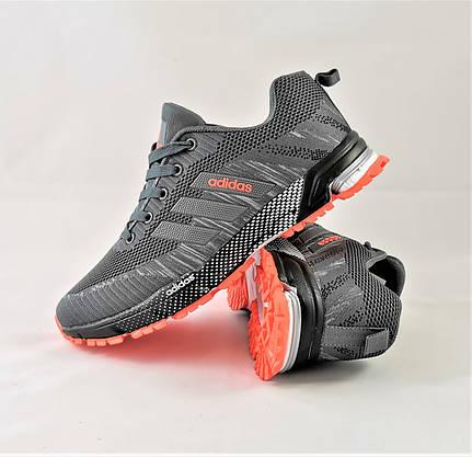 Кроссовки Adidas Fast Marathon Серые Мужские Адидас (размеры: 45) Видео Обзор, фото 3