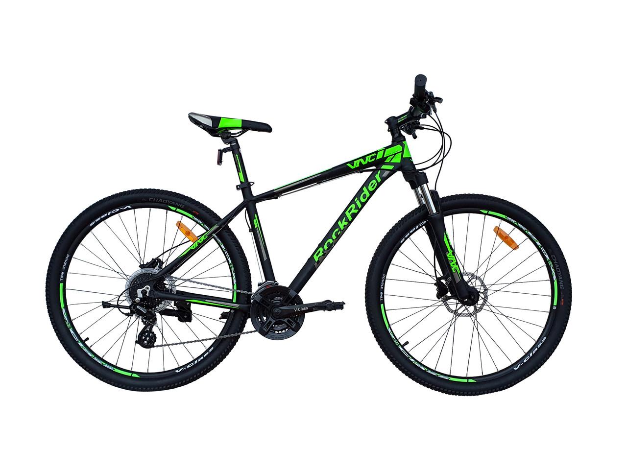 """Велосипед VNC 27,5"""" RockRider A5, 27A5-45-BG, черный / зеленый / серый M/17.5"""""""