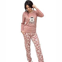 Женская теплая пижама. Код: 2322. Размеры: S