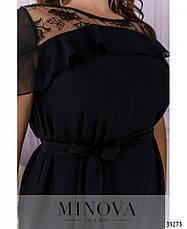 Платье женское большой размер №121Б-черный| 50|52|54, фото 3
