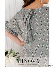 Платье женское большой размер №1758Б-фисташковый| 48|50|52|54|56|58|60, фото 3