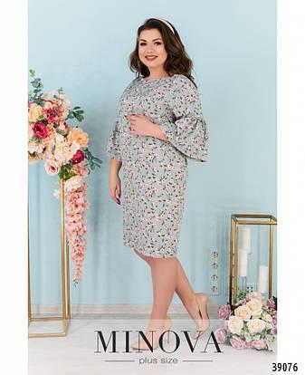Платье женское большой размер №1749-фисташка| 48|50|52|54|56|58|60, фото 2