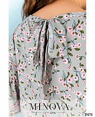 Платье женское большой размер №1749-фисташка| 48|50|52|54|56|58|60, фото 3
