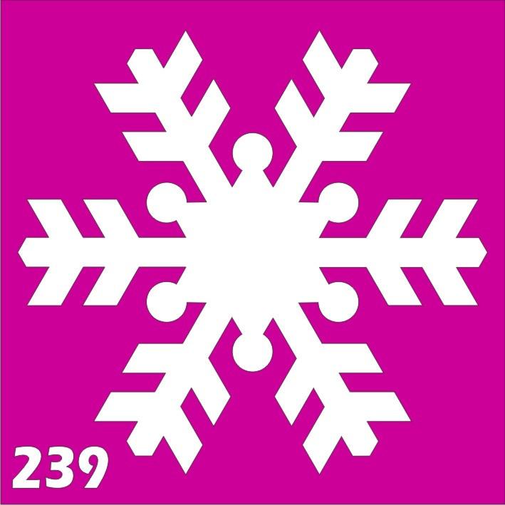 Снежинка - трафарет для био тату