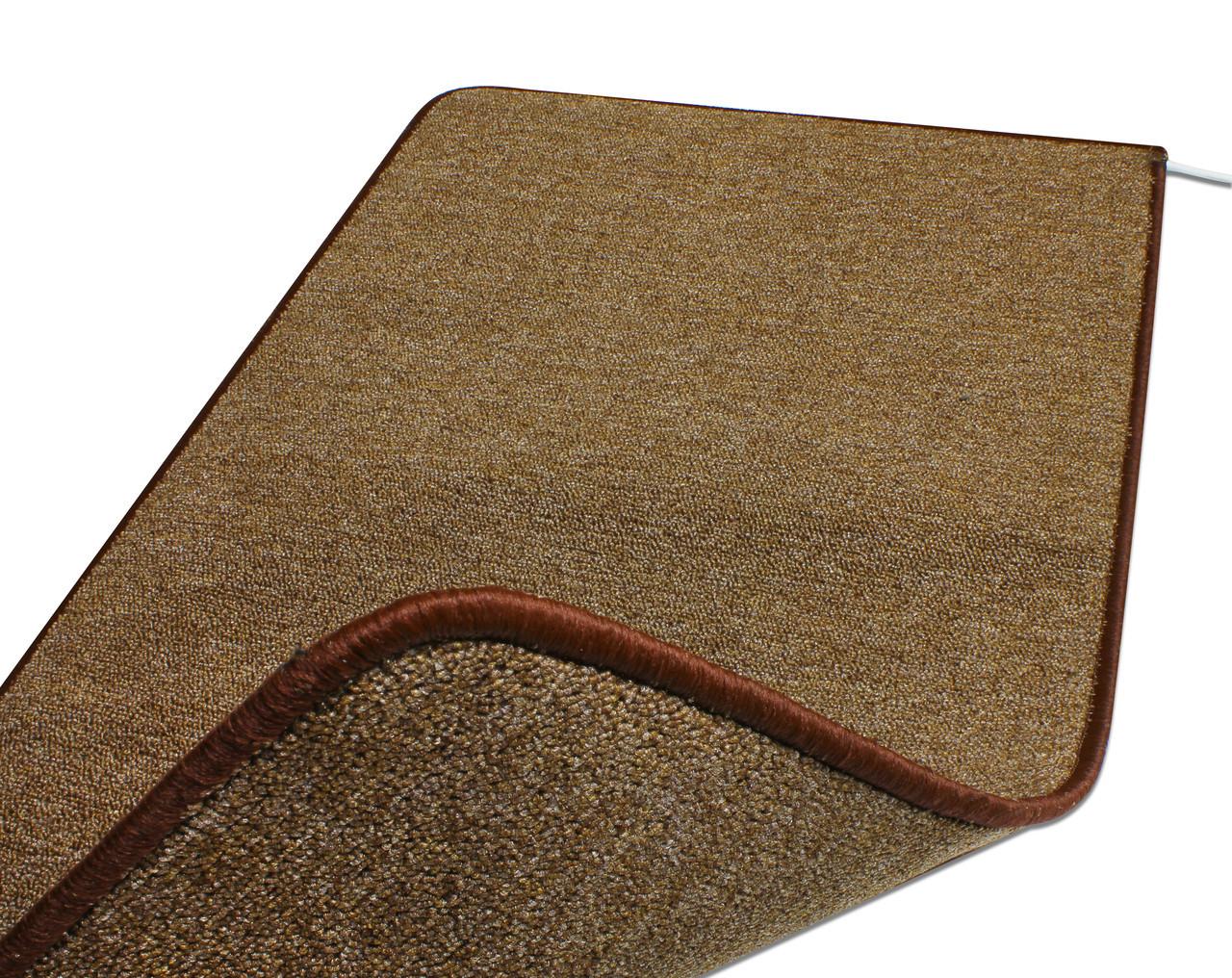 Теплый ковер 53 x 103 cм, коричневый, инфракрасного излучения