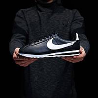 Мужские кроссовки Nike Cortez (Найк Кортез), черные, код DK-1269