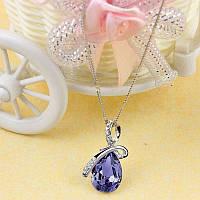 Підвіска фіолетовий камінчик