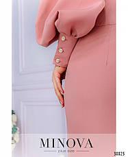 Платье женское большой размер №061-1-пудра  48-50 50-52 52-54 54-56, фото 3