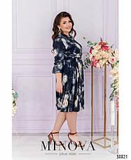 Платье женское большой размер №828-темно-синий| 50-52|54-56|58-60|62-64, фото 2