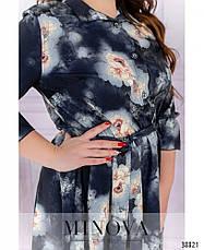 Платье женское большой размер №828-темно-синий| 50-52|54-56|58-60|62-64, фото 3