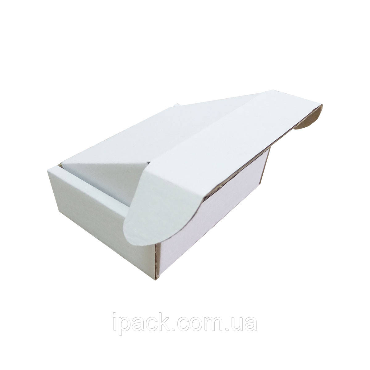 Коробка картонная самосборная 65*35*25 мм белая микрогофрокартон