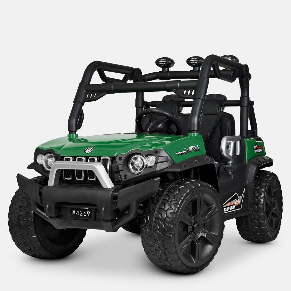 Детский электромобиль Джип Bambi M 4269EBLR-5 Багги зеленый