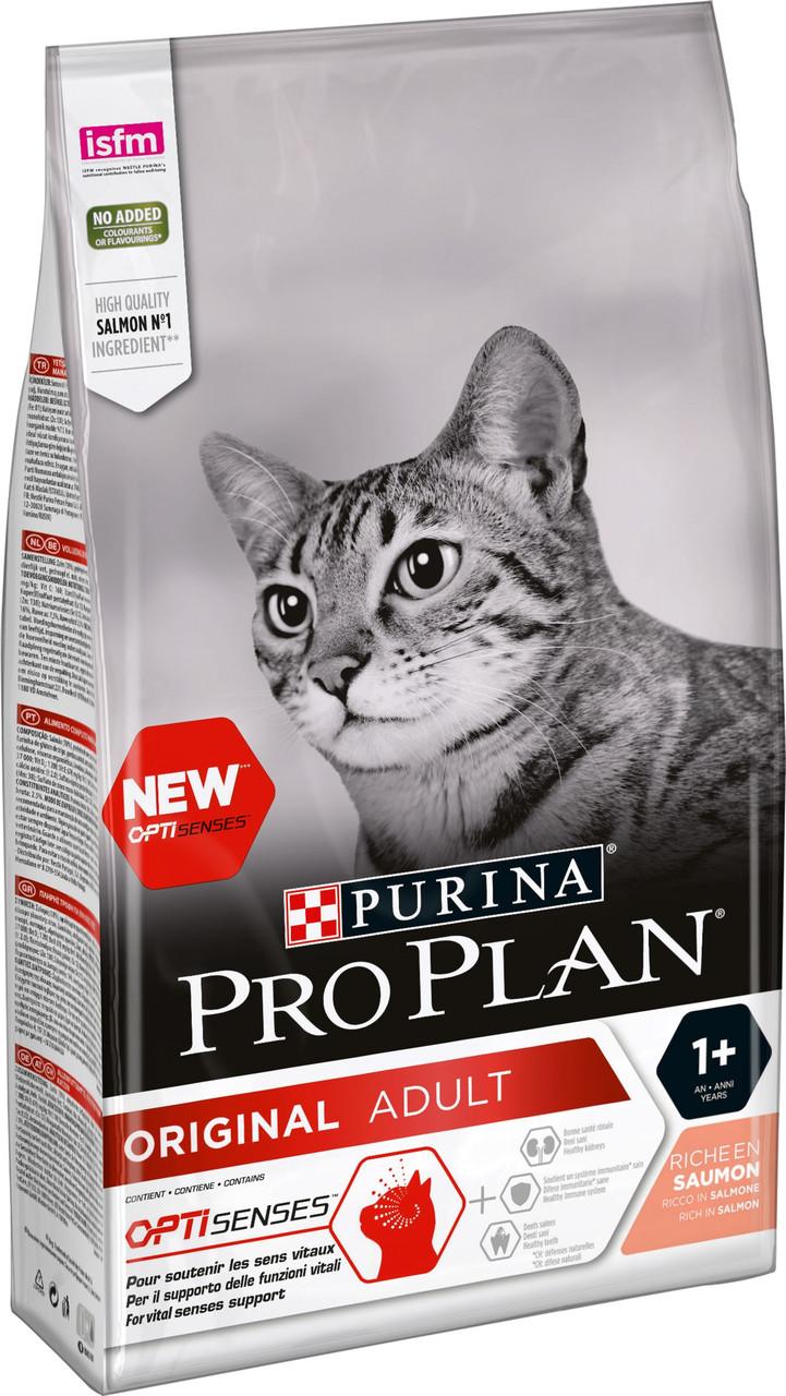 Pro Plan Adult Cat Salmon с лососем 1,5 кг сухой корм для взрослых кошек Purina