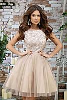 Женское модное вечернее платье с пышной юбкой 2 цвета