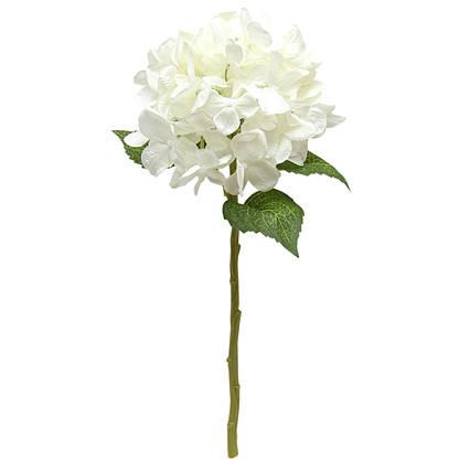 Искусственный цветок Гортензия, 35 см., Белый (630980)