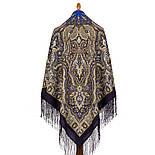 Шиповник 1883-14, павлопосадский платок шерстяной (двуниточная шерсть) с шелковой вязаной бахромой, фото 2