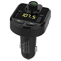 Fm модулятор Mp3 с блютуз в прикуриватель, Фм трансмиттер автомобильный с Bluetooth + 2 USB + microSD