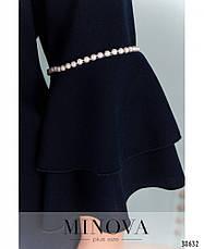 Платье женское большой размер №1009-темно-синий| 48-50|52-54|56-58|60-62, фото 3