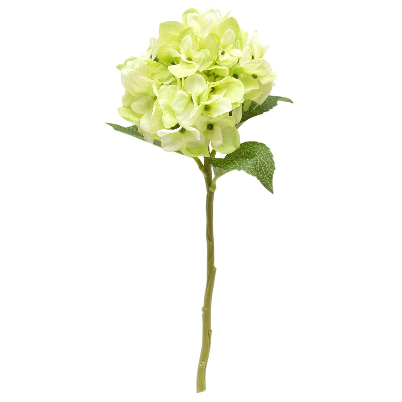 Искусственный цветок Гортензия, 35 см, Зеленый (631000)