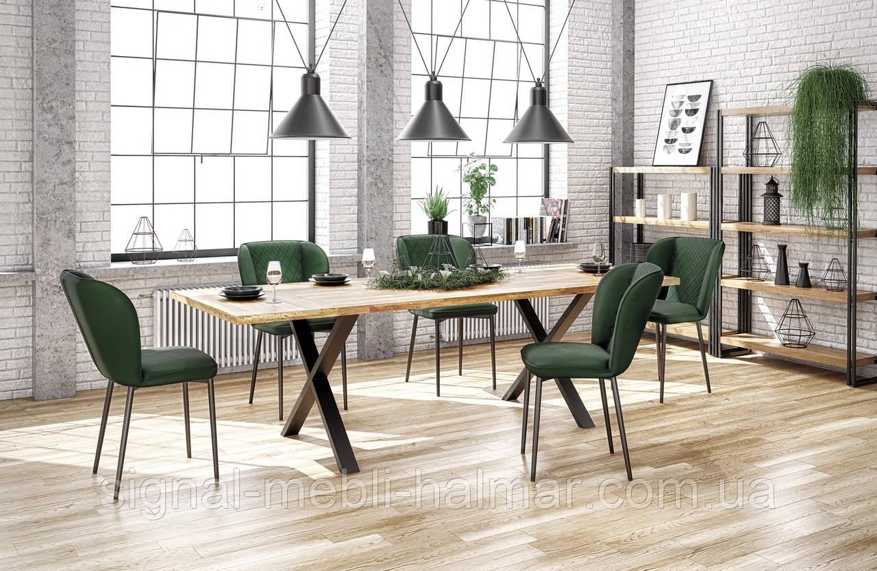 Стол APEX 120x78 Твердая древесина- дуб Halmar