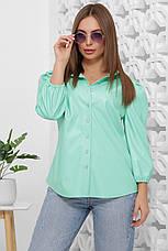 Стильная женская блуза-жакет из эко-кожи (4 цвета), фото 3