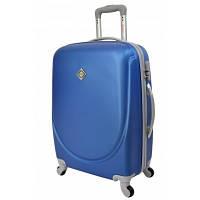 Чемодан Bonro Smile пластиковый на колесах средний, синий