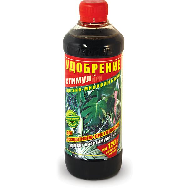 Добриво органо-мінеральне «Стимул NPK» для декоративно-листяних рослин 500 мл