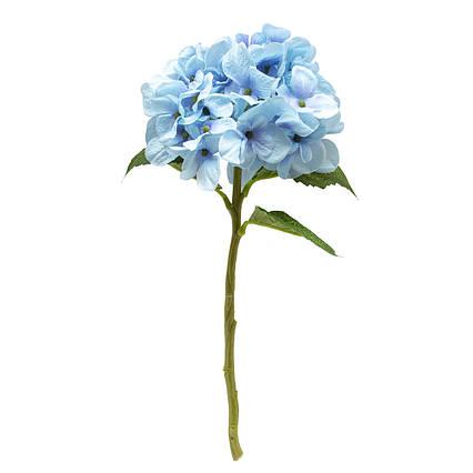 Искусственный цветок Гортензия, 35 см, голубой (631017)