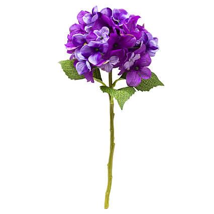 Искусственный цветок Гортензия, 35 см, фиолетовый (631024)