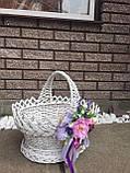 Корзина Изысканная пасхальная 41 см белая, фото 3