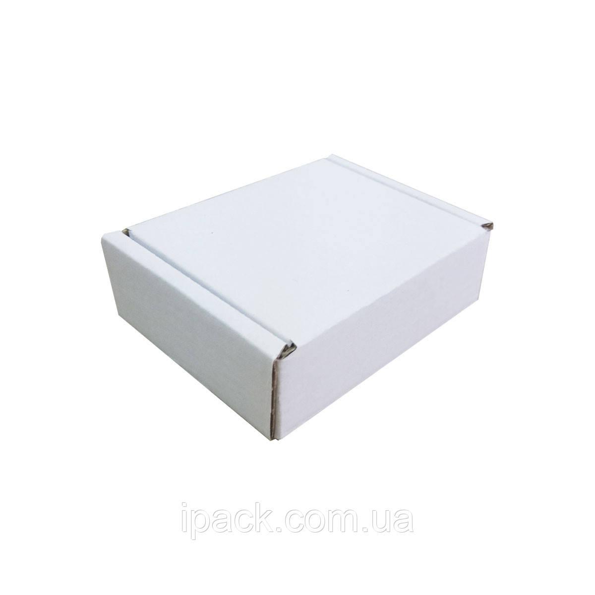 Коробка картонная самосборная 80*65*27 мм белая микрогофрокартон