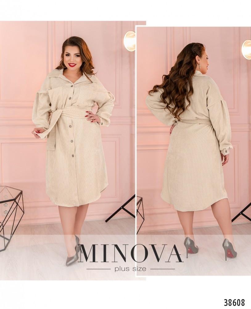 Платье женское большой размер №822-бежевый  50-52 54-56 58-60 62-64