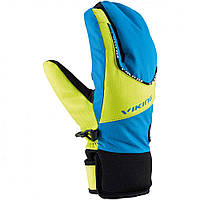 Гірськолижні рукавички Viking Fin кол.синій-салатовий| розмір 3